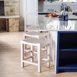 The Gray Barn Sennybridge White Kitchen Counter Barstool