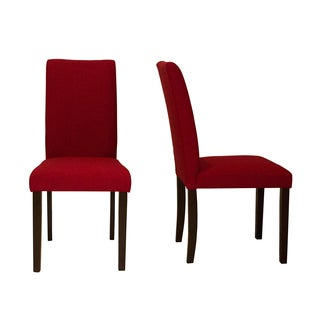 Shino Crimson Linen 39-inch Set of 2 Dining Chairs