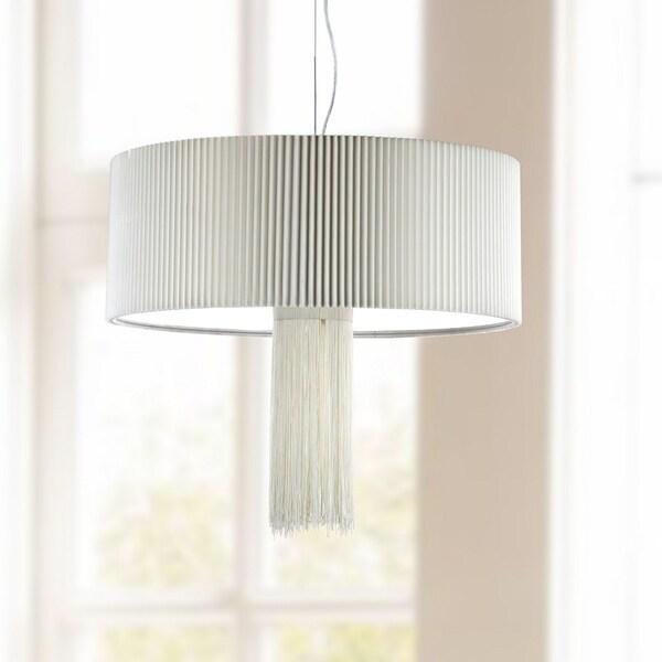 Safavieh Lighting 24-inch Schroom 3 Light Chrome Adjustable Pendant