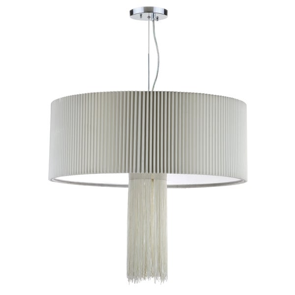 Safavieh Lighting 24-inch Schroom 3 Light Chrome Adjustable Pendant