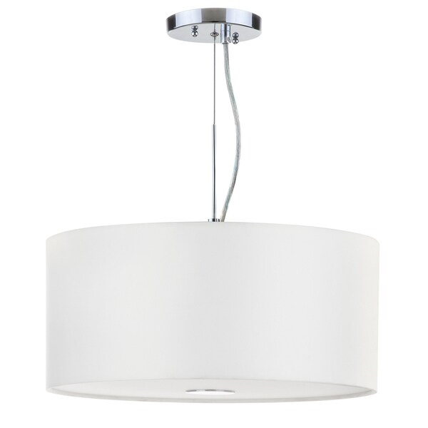 Safavieh Lighting 16-inch Molly 3 Light Chrome Adjustable Pendant