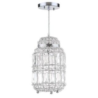 Safavieh Lighting 7-inch Bellamy Chrome Glass Adjustable Pendant