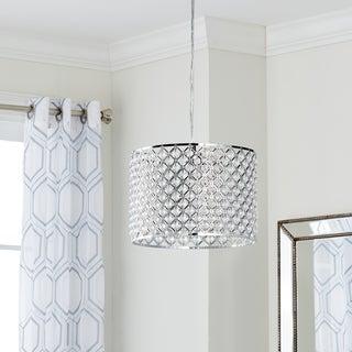 Safavieh Lighting Silva Chrome Beaded 12-Inch Adjustable Diamond Pendant