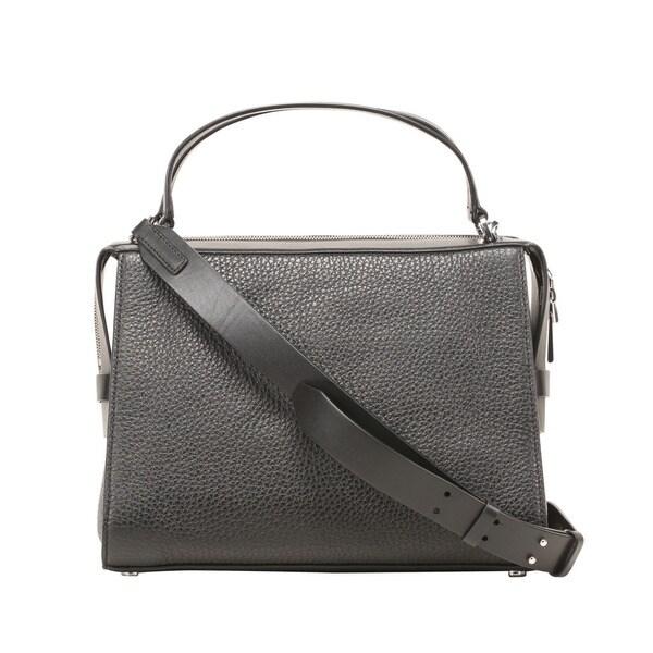 Michael Kors Ingrid Large Black Leather Satchel Handbag - Free ...
