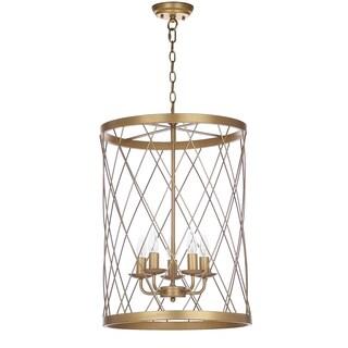 Safavieh Lighting 18-inch Alair Gold Adjustable Pendant Lamp