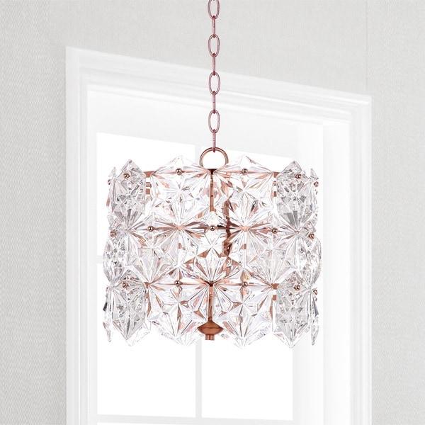 Safavieh Lighting Sena 4-light Copper Crystal Adjustable Pendant