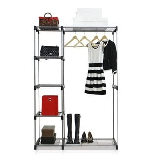 Sunbeam Double Rod Freestanding Storage Closet