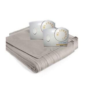 Biddeford Comfort Knit Fleece Heated Blanket with Analog Control-Grey