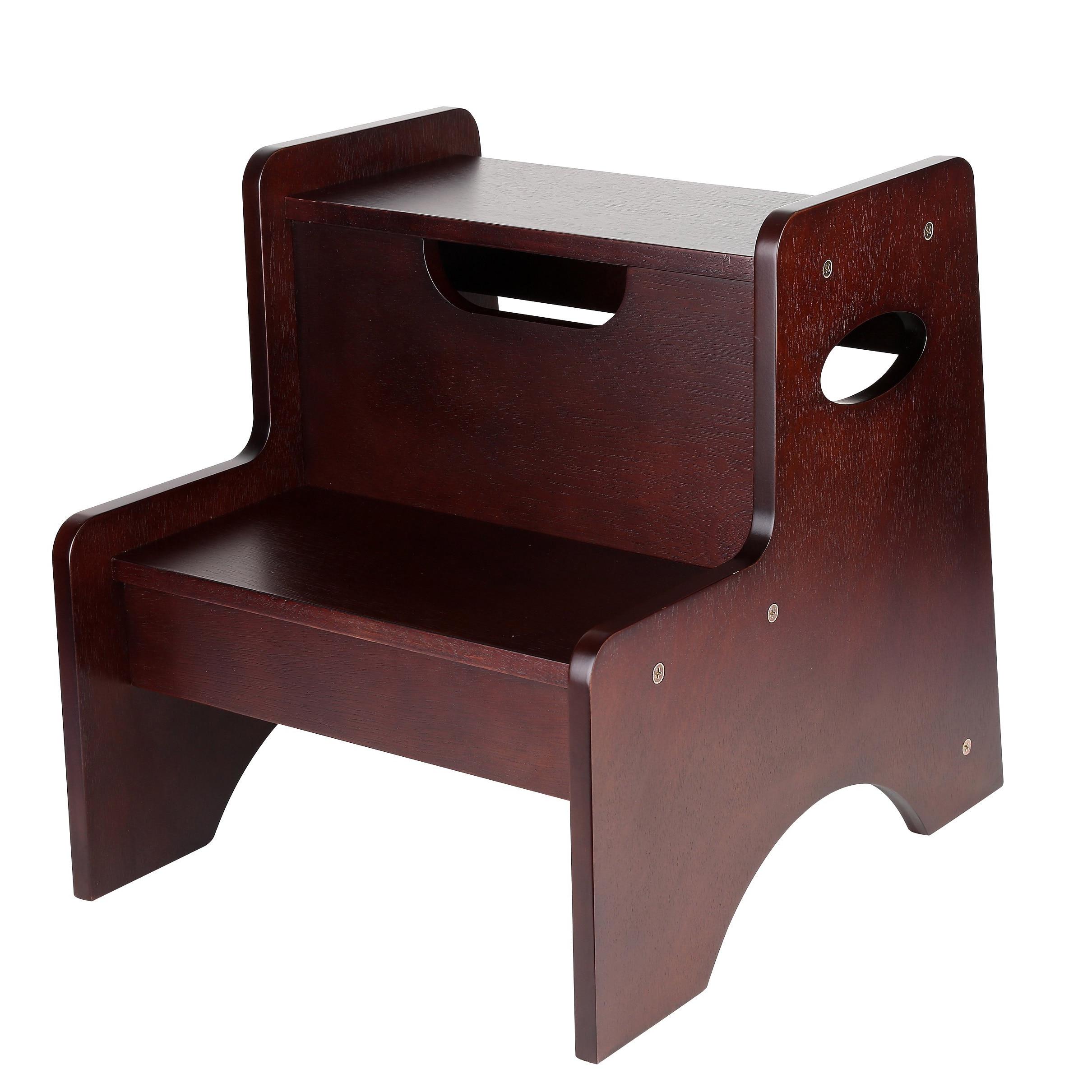 Astonishing Levels Of Discovery Espresso Two Step Stool Creativecarmelina Interior Chair Design Creativecarmelinacom