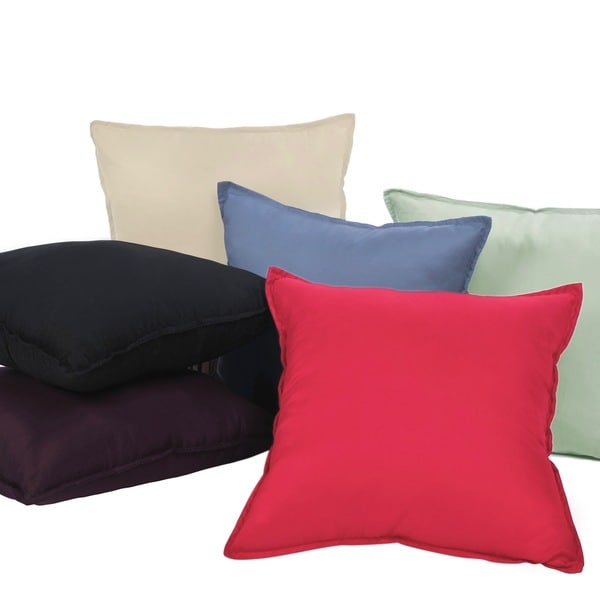 Nanofibre Polyester Microfiber Water and Stain Resistant Decorative Throw Pillow (Set of 2)