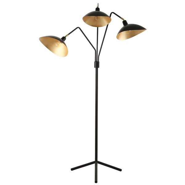 Safavieh Lighting 69.5-inch Iris Black/ Gold Floor Lamp