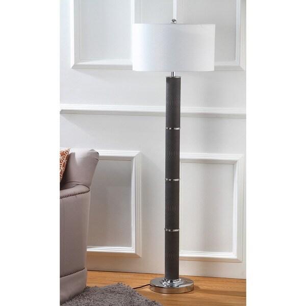Safavieh Lighting 60.5-inch Marcello Faux Snakeskin Grey Floor Lamp
