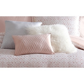 Nikki Chu White Faux Fur Decorative Throw PIllow