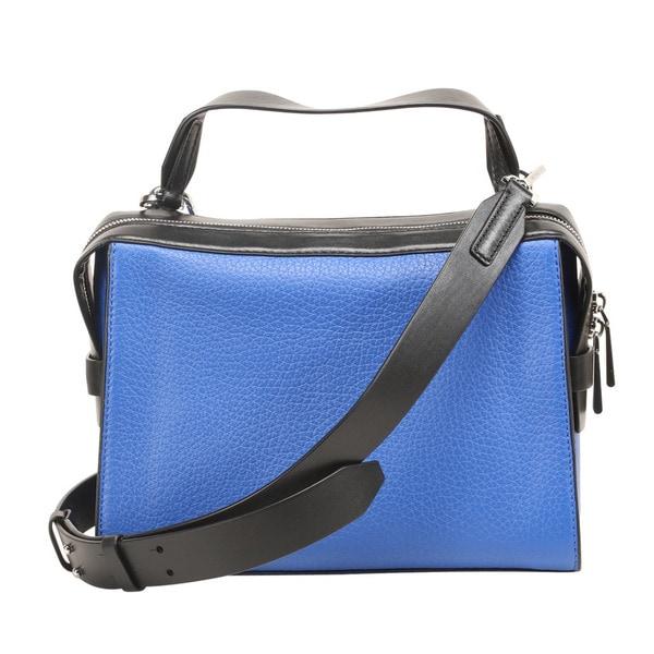 a552642aec7a Michael Kors Ingrid Electric Blue & Black Medium Shoulder Handbag
