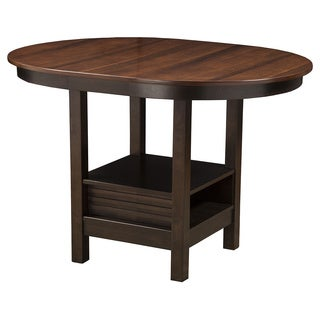 Alpine Davenport Oval Pub Table - Espresso