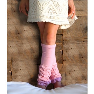 Girl's Dusty Rose Scrunched Leg Warmers