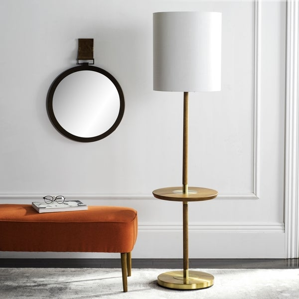 Safavieh Lighting 65-inch Brown Janell Floor Lamp