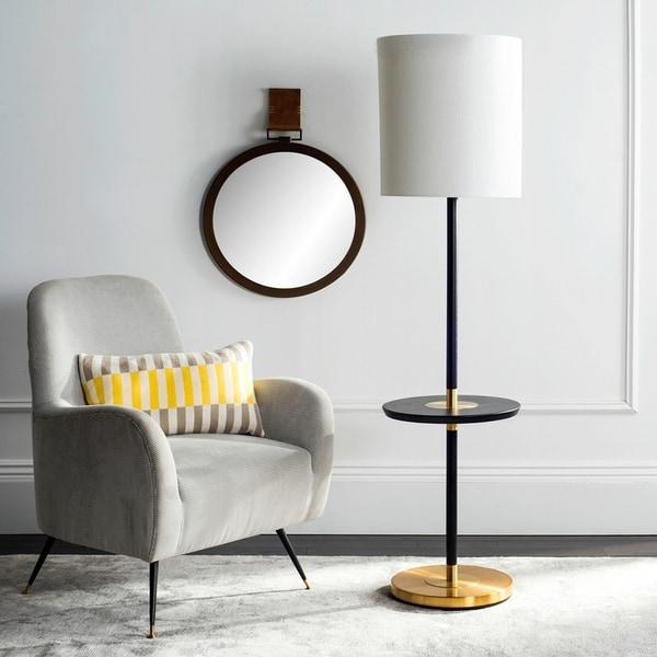 Safavieh Lighting 65-inch Black/ Gold Janell Floor Lamp