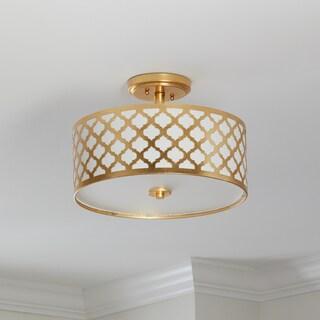 Safavieh Lighting 15-inch Kora 3-light Flush Mount