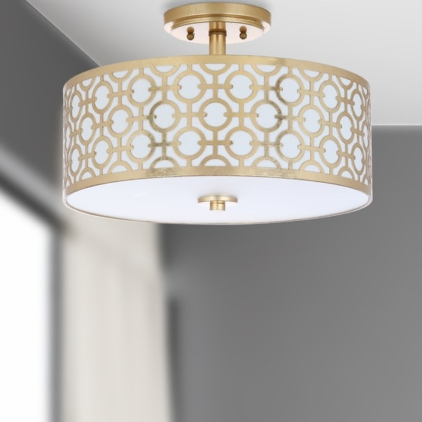 "Safavieh Lighting 15.5-inch Vera 3-light Flush Mount - 15.5"" x 15.5"" x 10.5"""