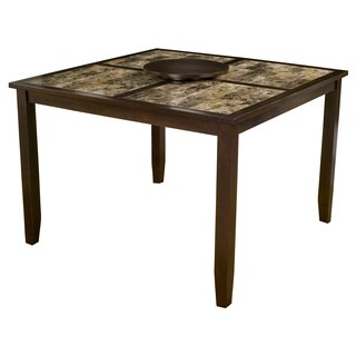 Alpine Capitola Faux Marble Pub Table