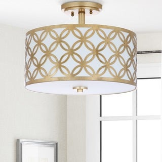 Safavieh Lighting Cecily 3-light Gold Leaf Flush Mount