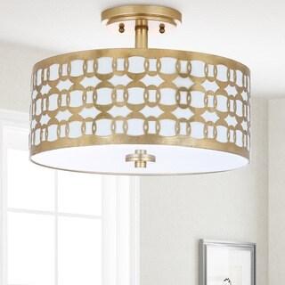 Safavieh Lighting 15-inch Cedar Linked 3-light Flush Mount