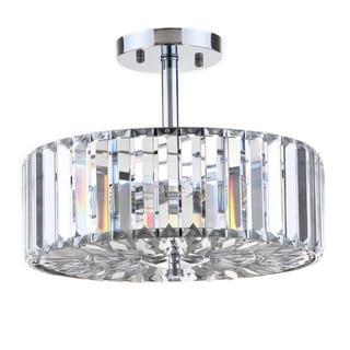 Safavieh Lighting Ariel 3 Light Chrome 13.5-Inch Ceiling Light
