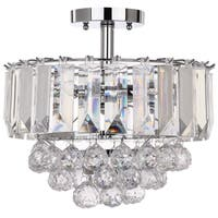 "Safavieh Lighting 13.5-inch Vaxcel 3-light Chrome Acrylic Flush Mount - 13.5"" x 13.5"" x 11.75"""