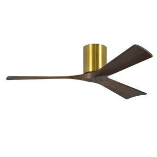 Matthews Fan Irene-H 52-inch 3 Blade Brushed Brass Hugger Paddle Fan