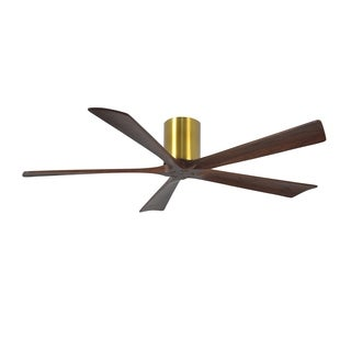 Matthews Fan Irene-H 60-inch 5 Blade Brushed Brass Hugger Paddle Fan