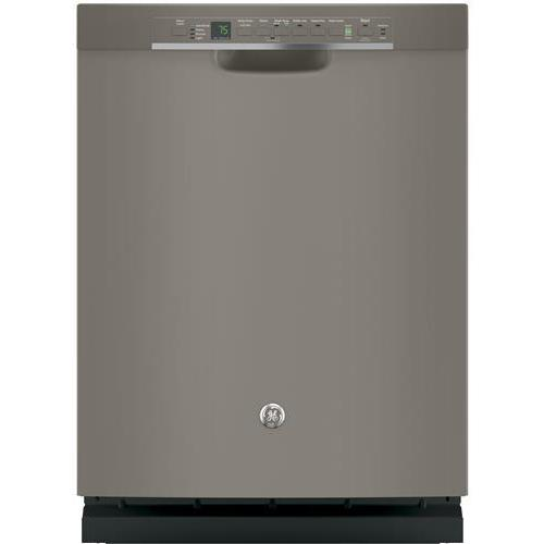 GE Stainless Steel Interior Dishwasher with Front Controls Slate