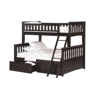 Ginger Chocolate Twin/Full Bunk Bed (drawers sold separately)