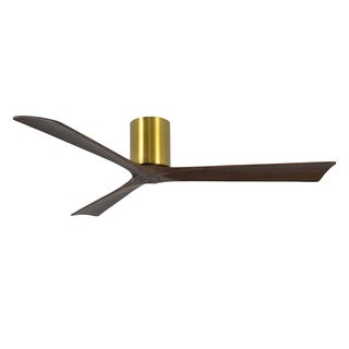 Matthews Fan Irene-H 60-inch 3 Blade Brushed Brass Hugger Paddle Fan