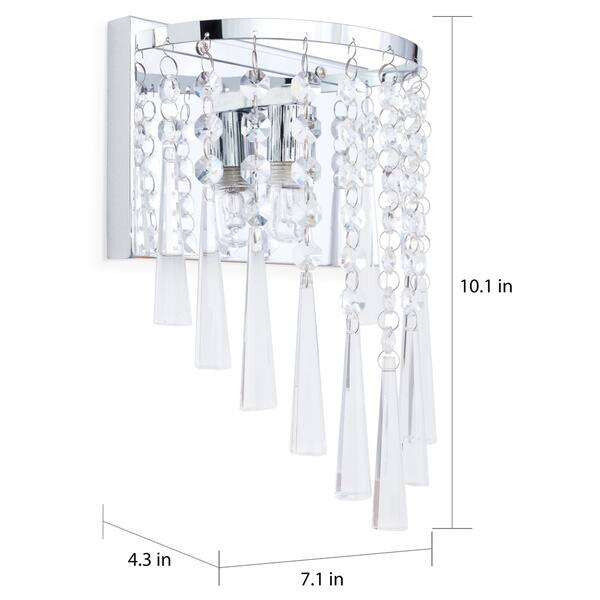 Safavieh Lighting 10 Inch Tilly Chrome Beaded Wall