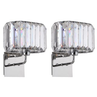 Safavieh Lighting Athena Chrome 11.25-Inch Acrylic Wall Sconce (Set of 2)