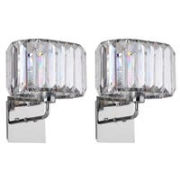 Safavieh Lighting 11.25-inch Athena Chrome Acrylic Wall Sconce (Set of 2)