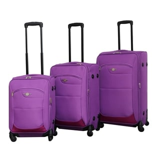 Rivolite 3-piece Ultra Lightweight Spinner Luggage Set