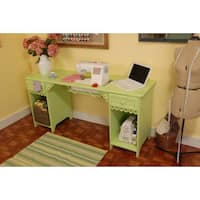 Arrow Sewing 'Olivia' Pistachio Green Sewing Machine Table Furniture Storage Cabinet