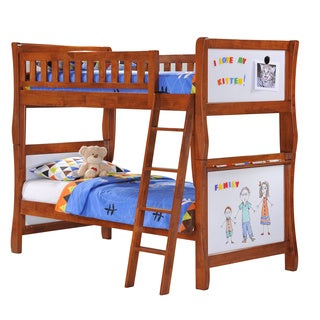 Scribbles Cherry Twin/Twin Bunk Bed