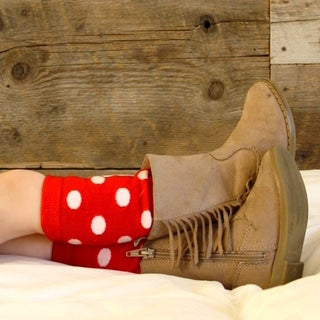 Girl's Red Polka Dot Leg Warmers