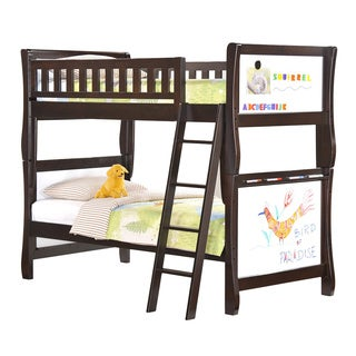 Scribbles Chocolate Twin/Twin Bunk Bed