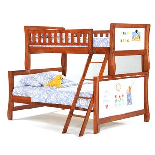 Scribbles Cherry Twin/Full Bunk Bed