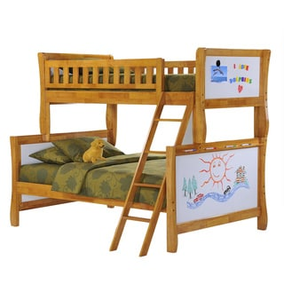 Scribbles Medium Oak Twin/Full Bunk Bed