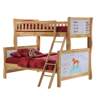 Scribbles Natural Twin/Full Bunk Bed