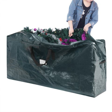 Elf Stor Premium Plastic Extra Large Holiday Christmas Tree Bag for 9-foot Tree