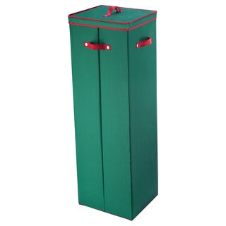 Elf Stor Green Fabric 40-inch Wrapping Paper Storage Box with Lid