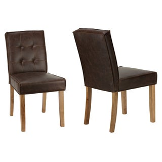 Antique Brown Cortesi Home Alamo Chair Set of 2