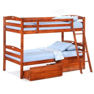Sesame Cherry Twin/Twin Bunk Bed (Drawers are sold separately)