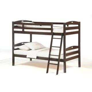 Sesame Chocolate Twin/Twin Bunk Bed